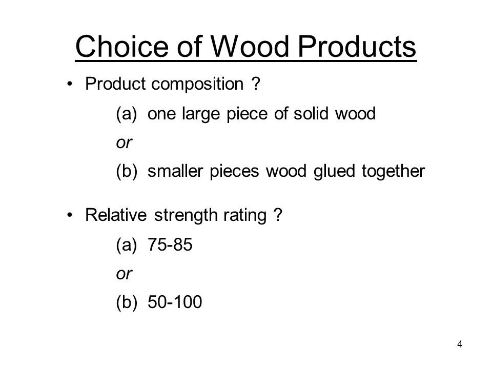 Choice of Wood Products