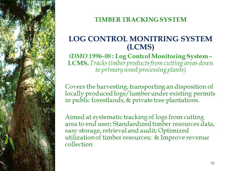 TIMBER TRACKING SYSTEM LOG CONTROL MONITRING SYSTEM (LCMS)