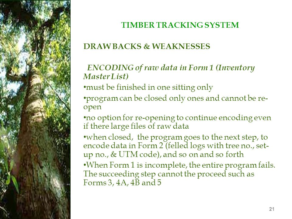 TIMBER TRACKING SYSTEM