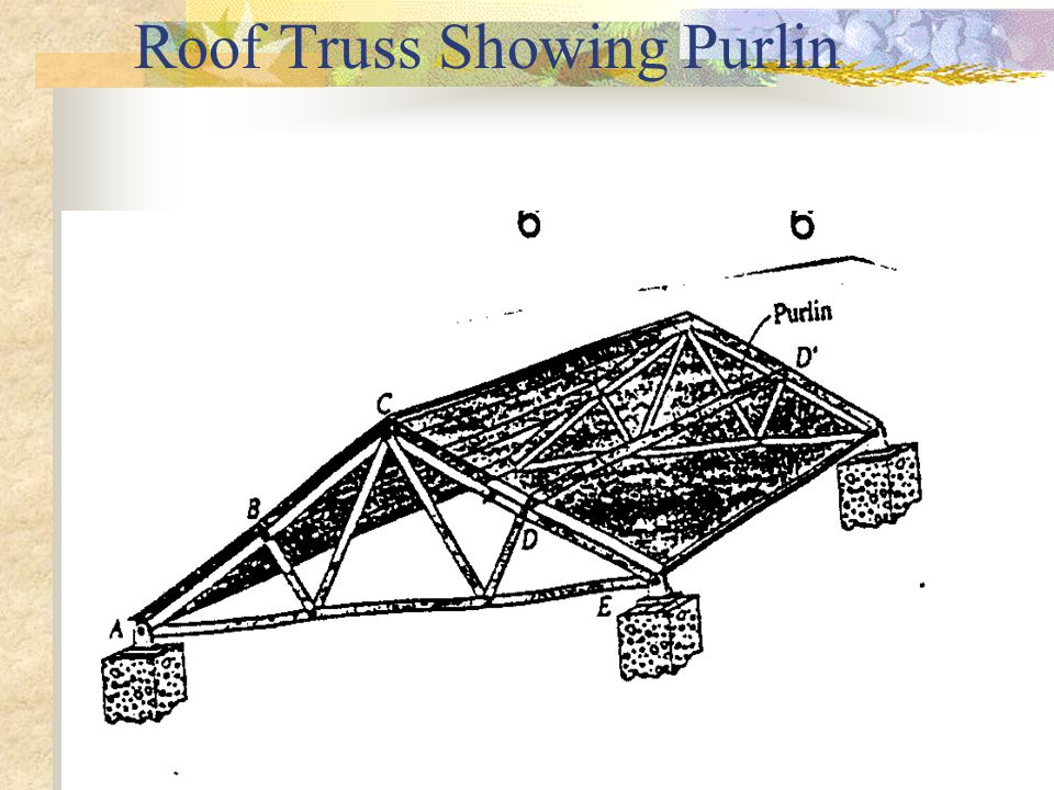 Roof Truss Showing Purlin