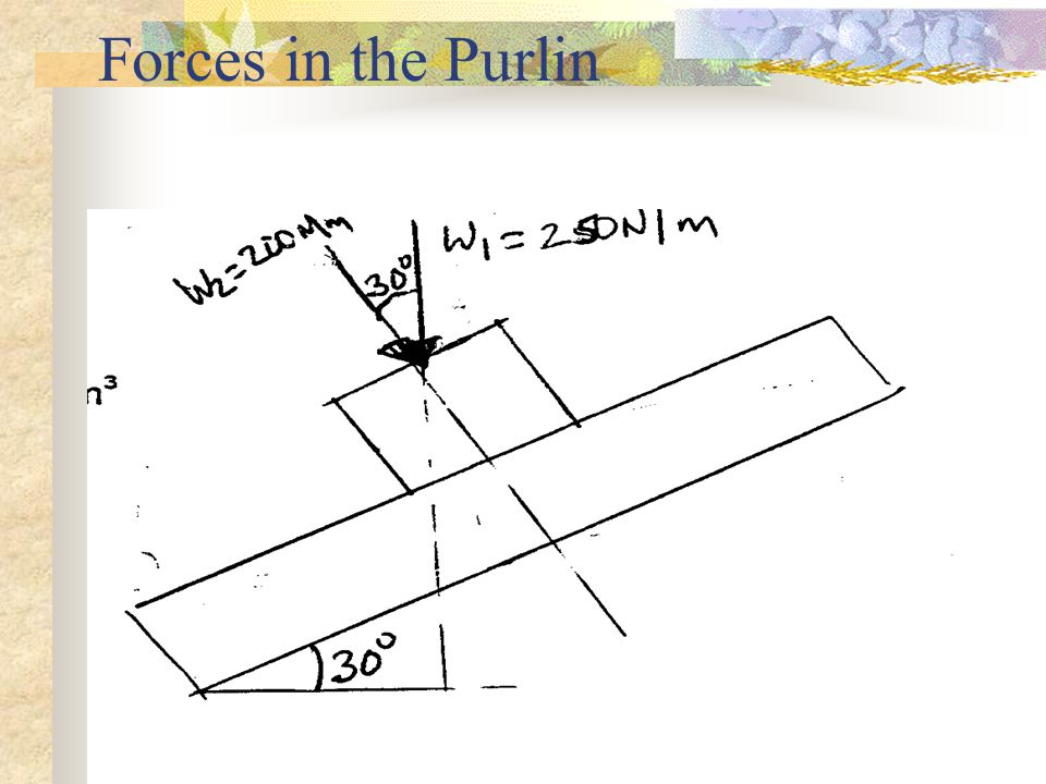 Forces in the Purlin