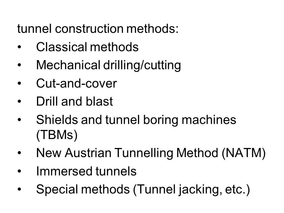 tunnel construction methods: