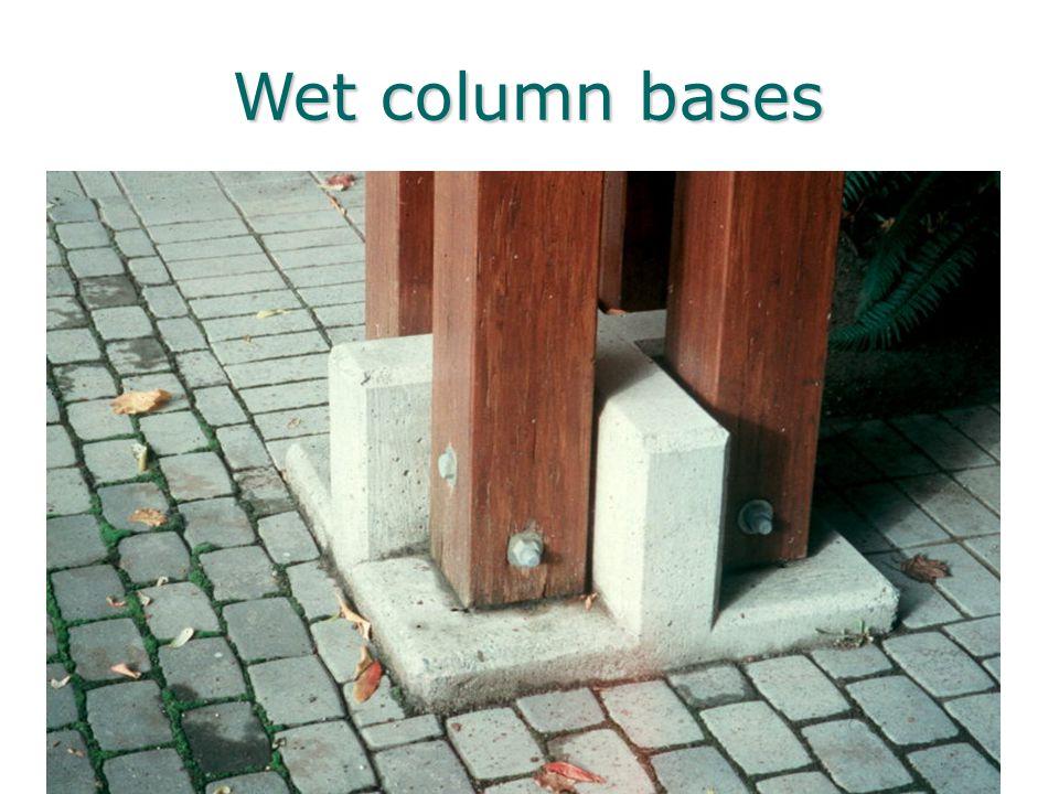 Wet column bases