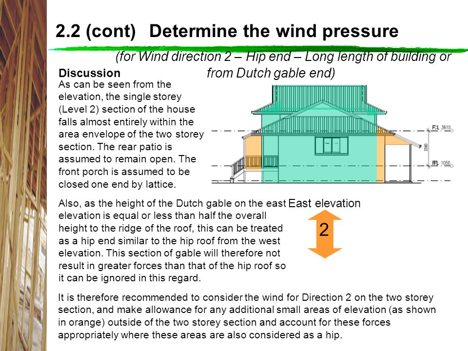 2.2 (cont) Determine the wind pressure