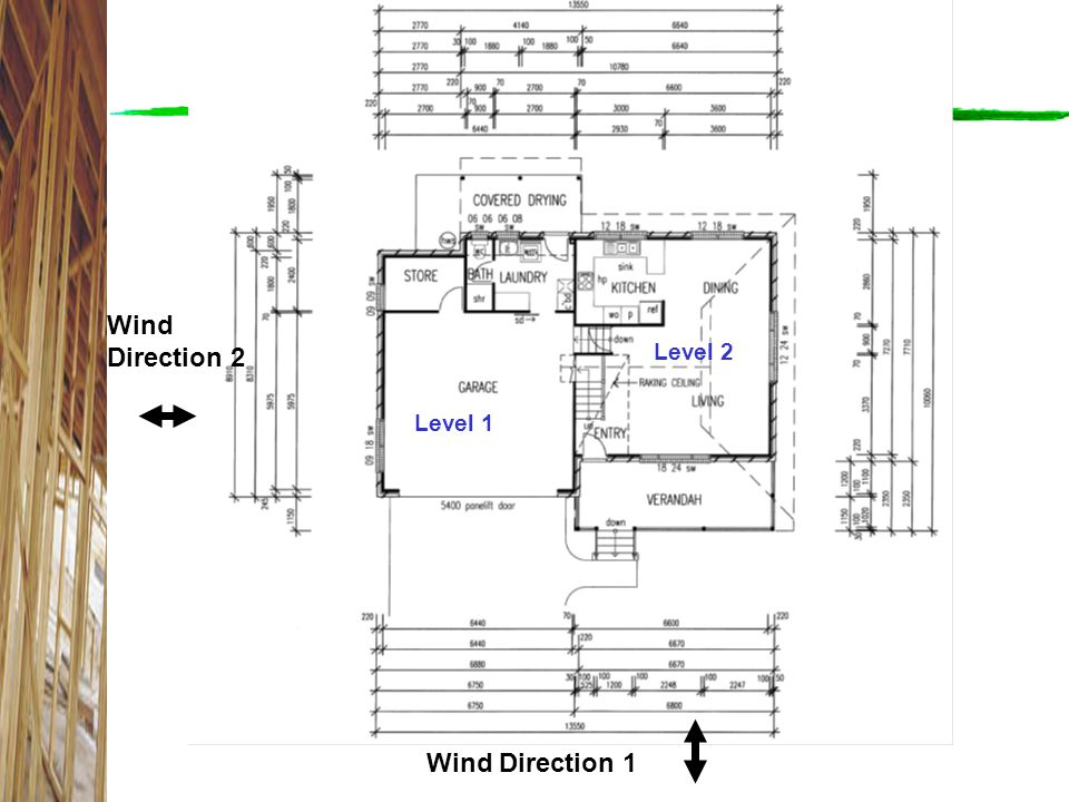 Wind Direction 2 Wind Direction 1 Level 2 Level 1 Level 1 and Level 2