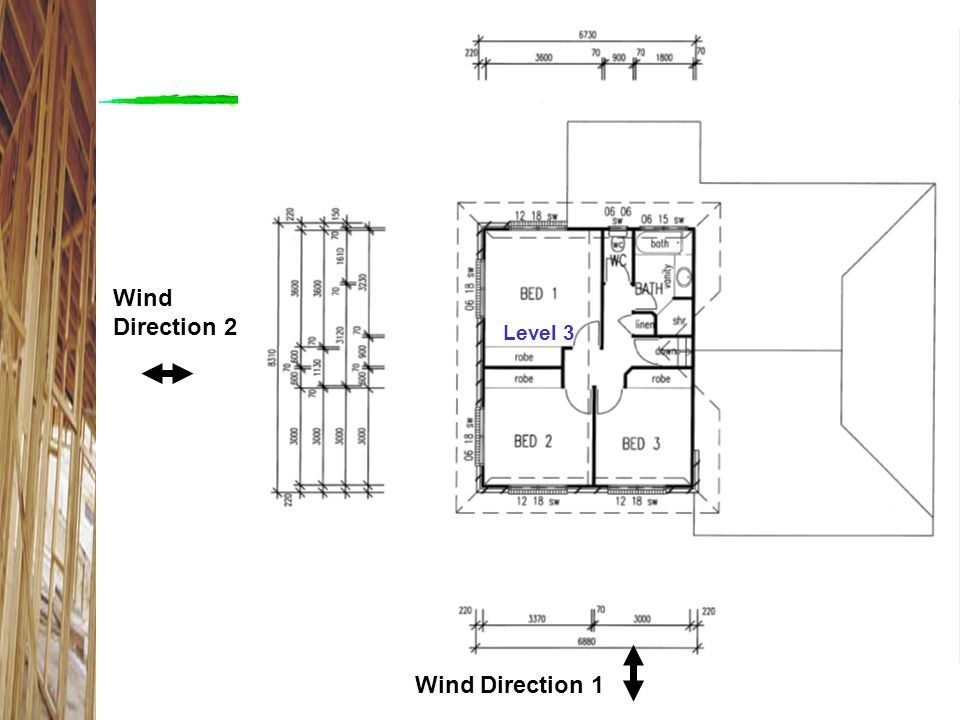 Wind Direction 2 Level 3 Level 3 Wind Direction 1