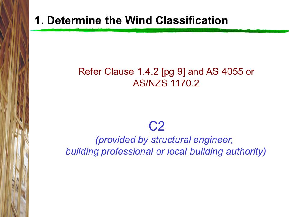 C2 1. Determine the Wind Classification