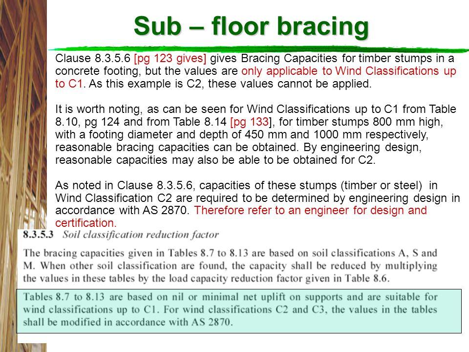 Sub – floor bracing