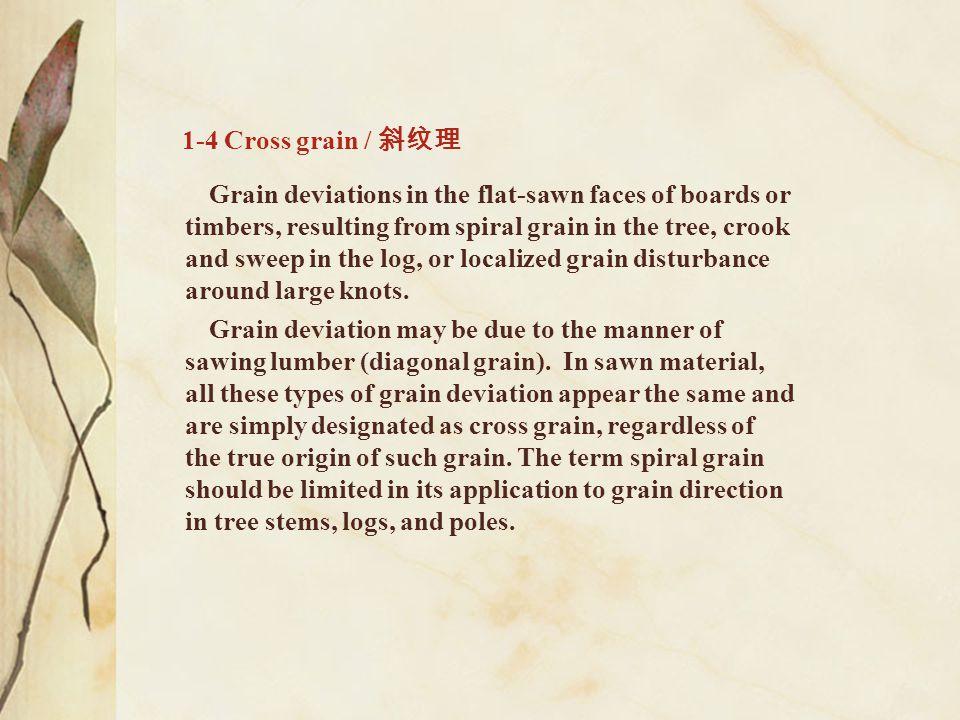 1-4 Cross grain / 斜纹理