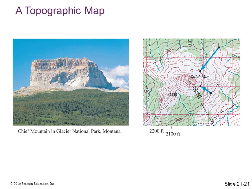 A Topographic Map Slide 21-21