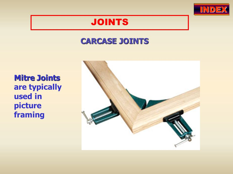 JOINTS INDEX CARCASE JOINTS