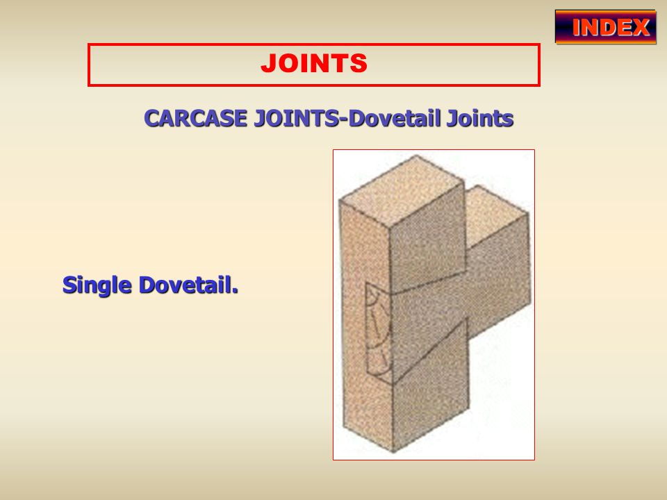 CARCASE JOINTS-Dovetail Joints