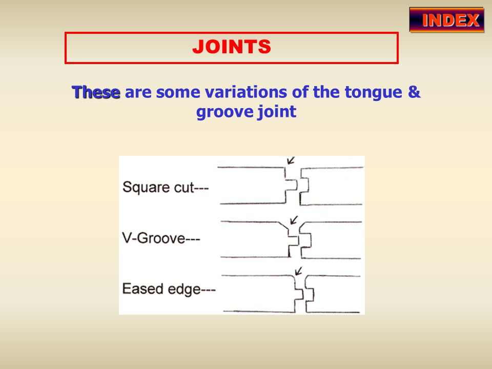 These are some variations of the tongue & groove joint