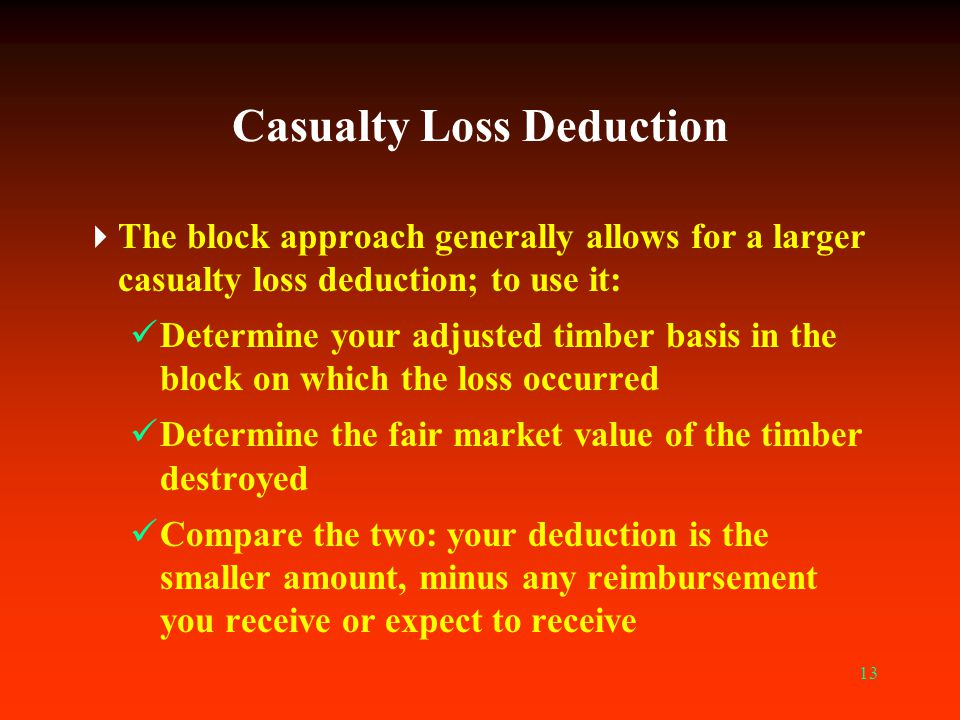 Casualty Loss Deduction