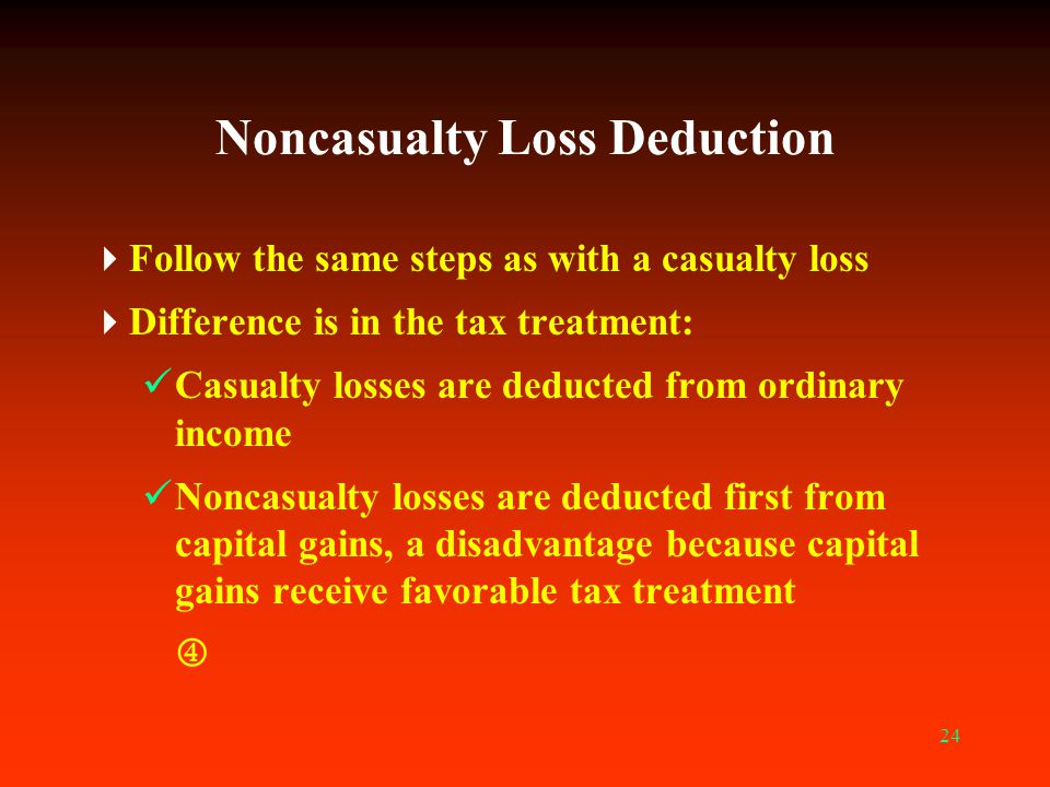 Noncasualty Loss Deduction