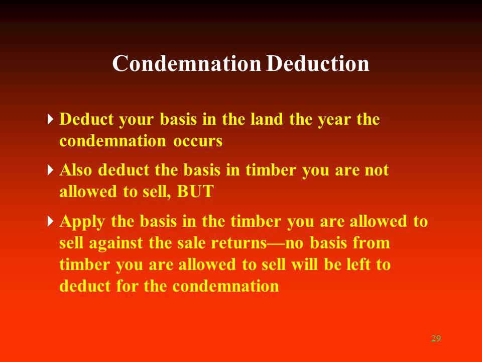 Condemnation Deduction