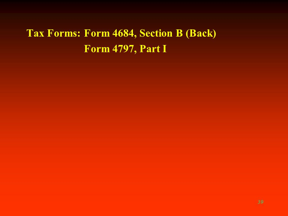 Tax Forms: Form 4684, Section B (Back)