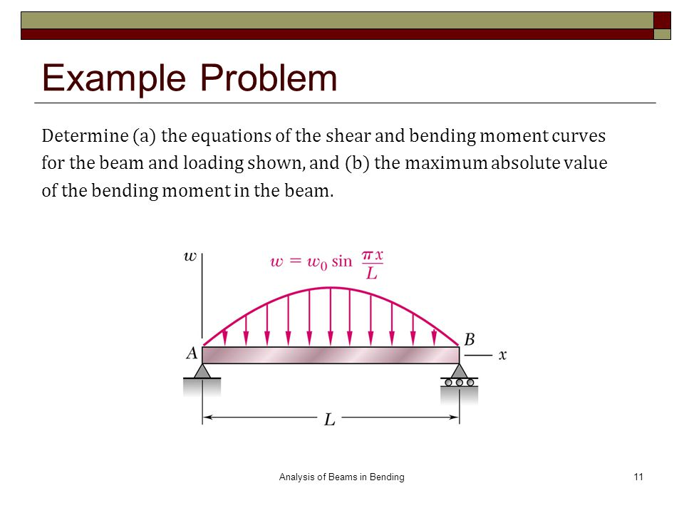 Analysis of Beams in Bending