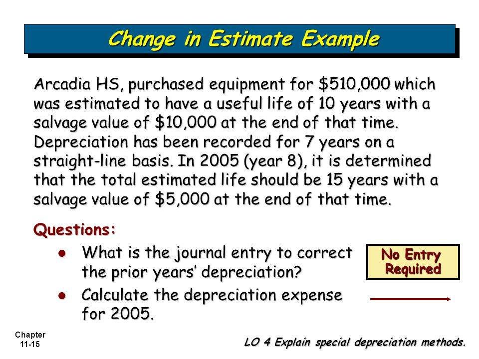 Change in Estimate Example