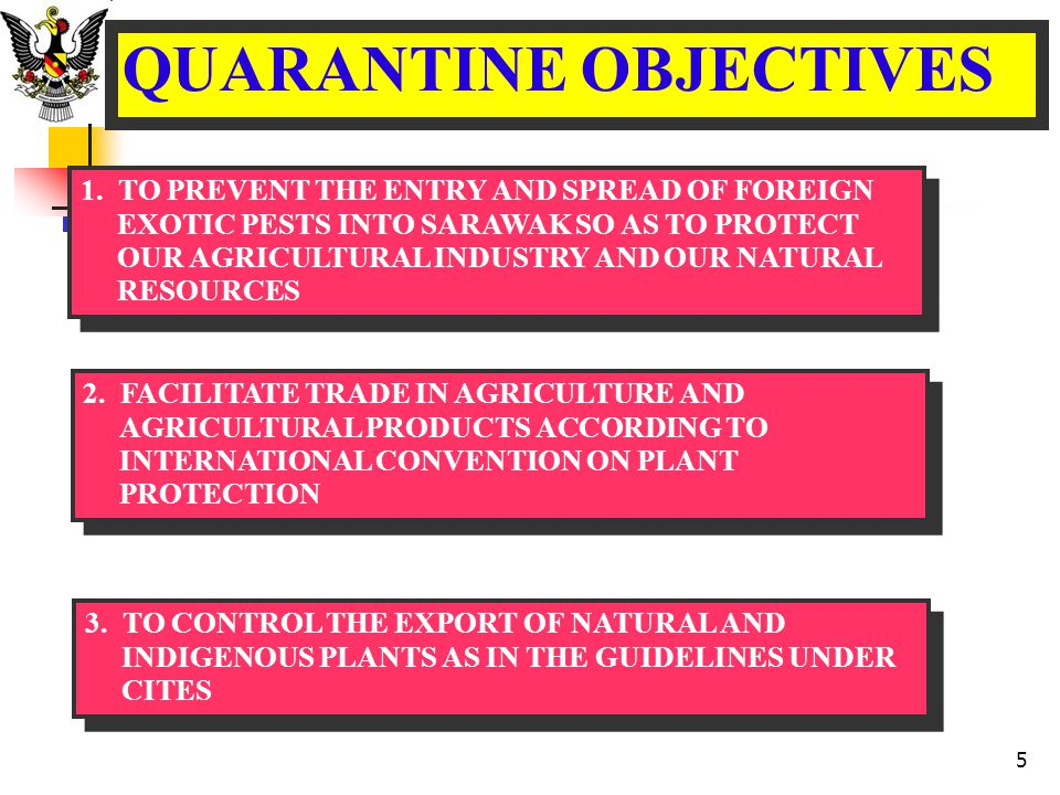 QUARANTINE OBJECTIVES