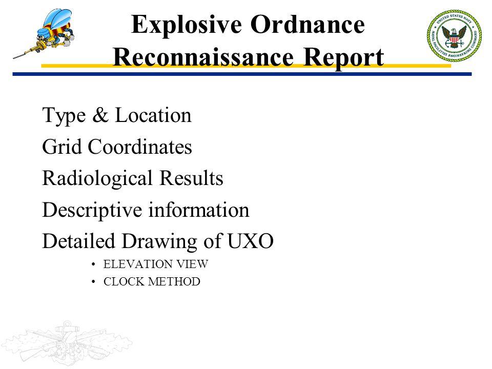 Explosive Ordnance Reconnaissance Report