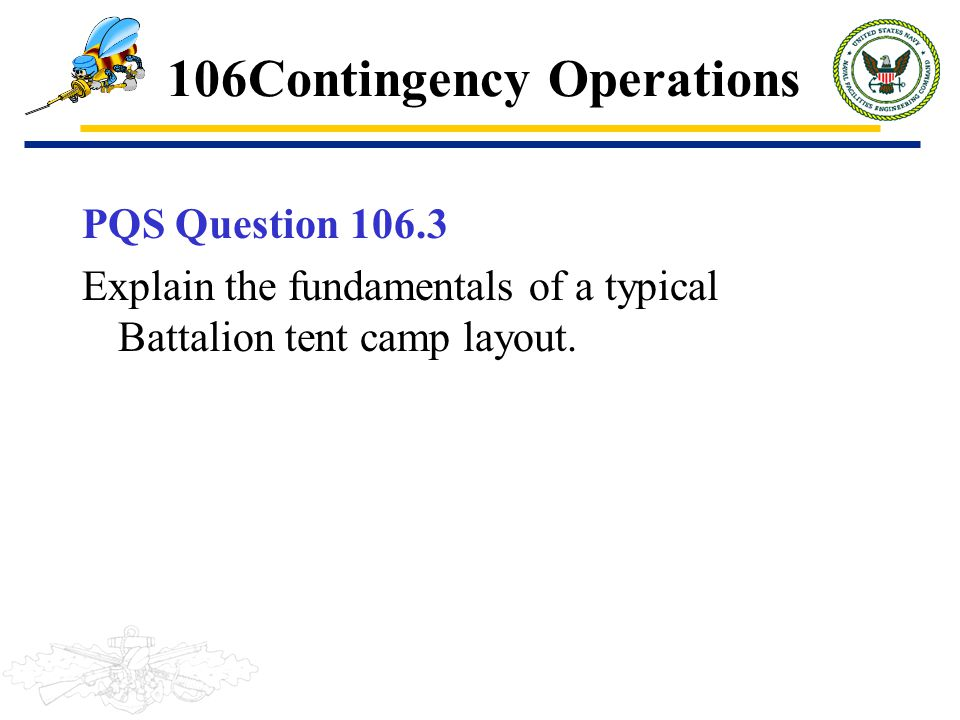 106Contingency Operations