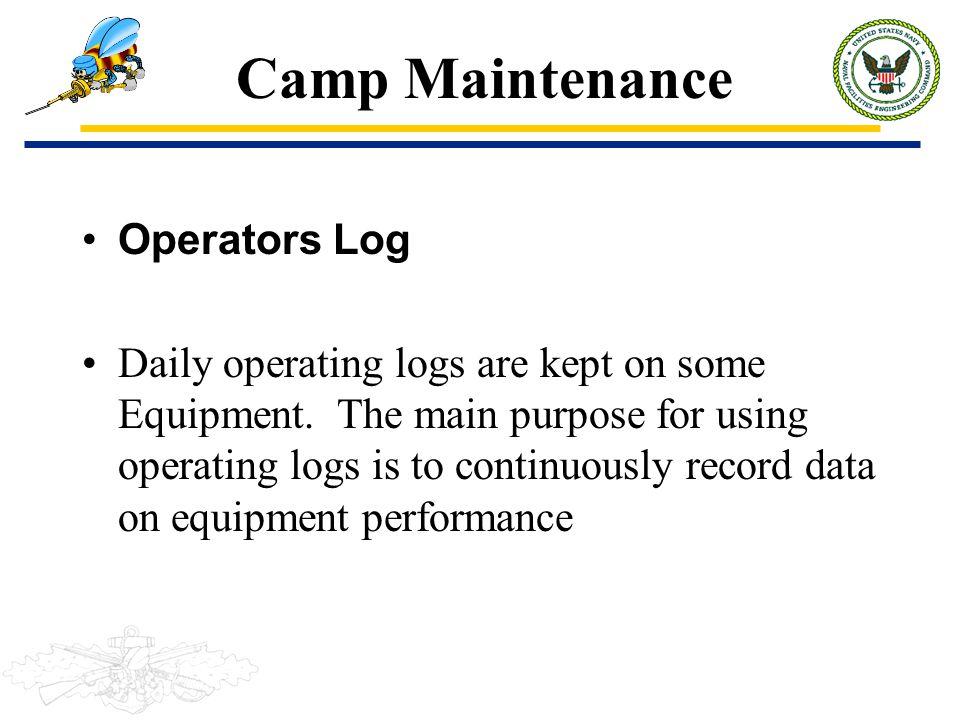 Camp Maintenance Operators Log
