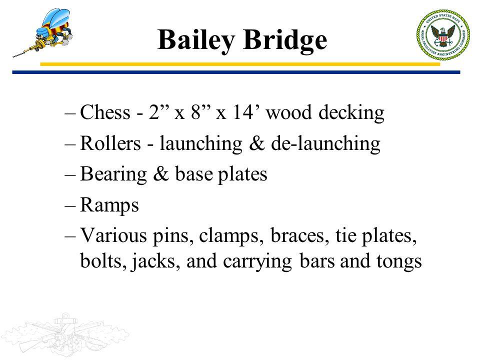 Bailey Bridge Chess - 2 x 8 x 14' wood decking