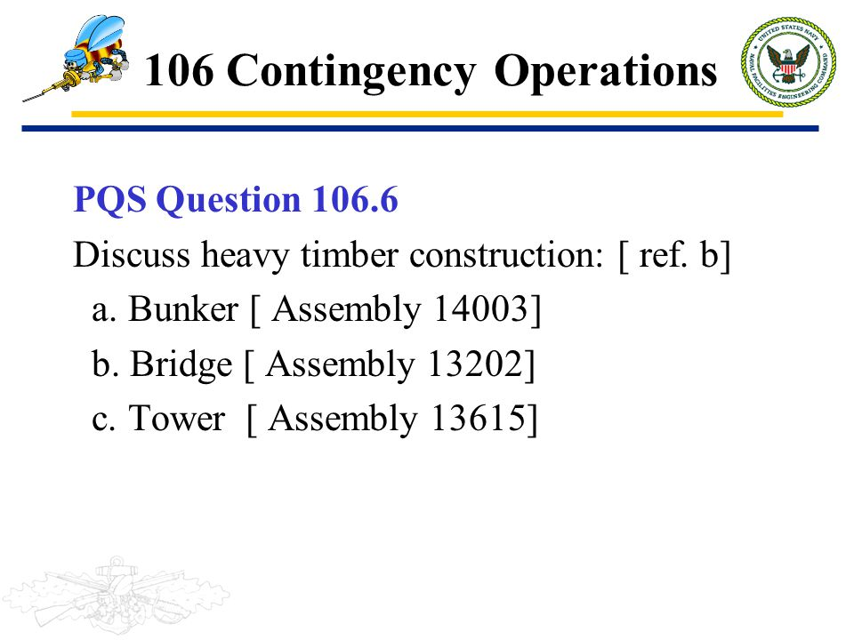 106 Contingency Operations