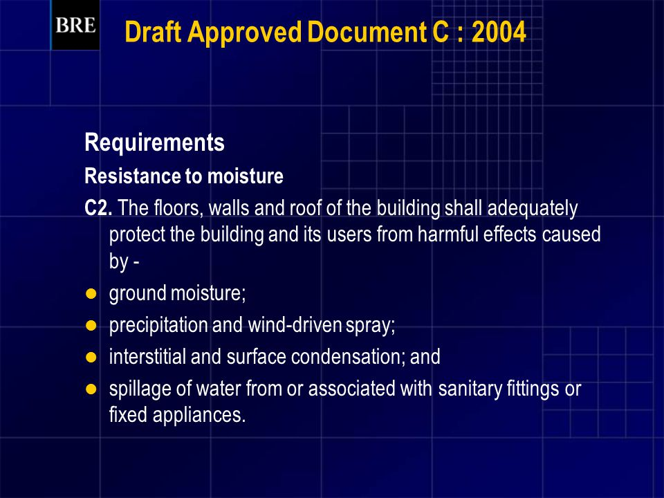 Draft Approved Document C : 2004