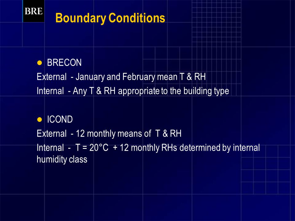 Boundary Conditions BRECON External - January and February mean T & RH
