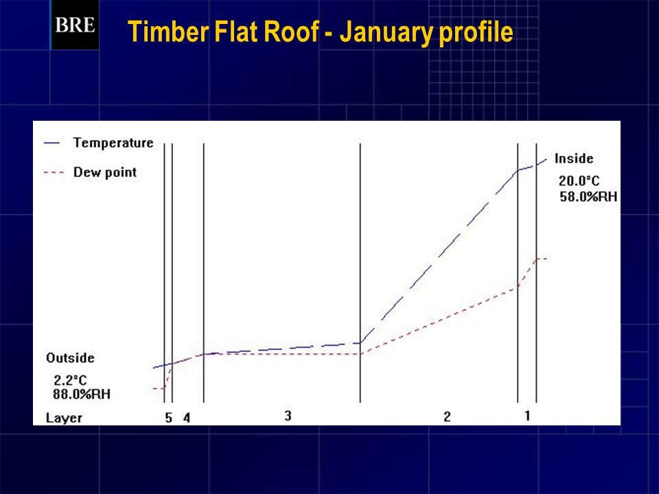 Timber Flat Roof - January profile