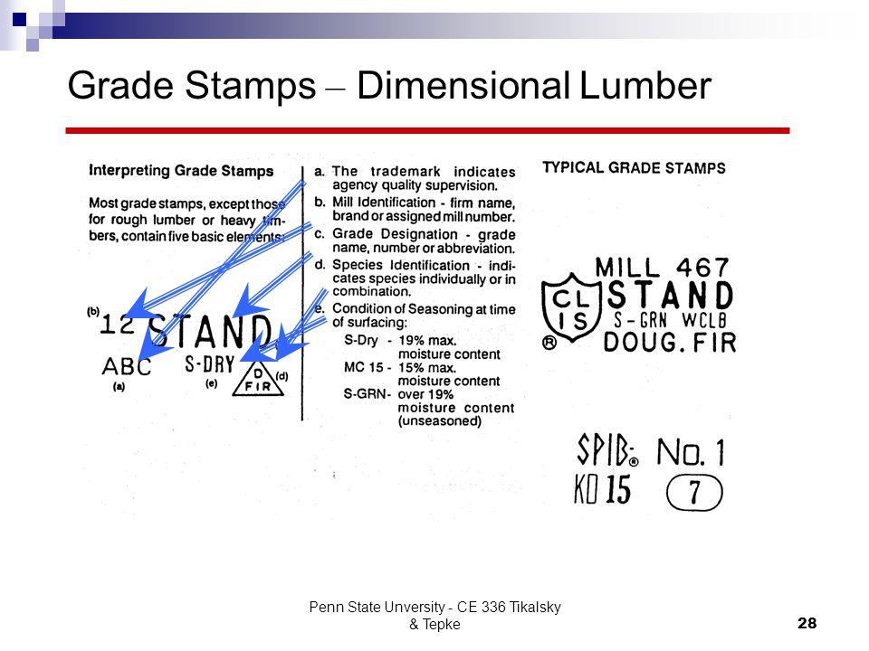 Grade Stamps – Dimensional Lumber