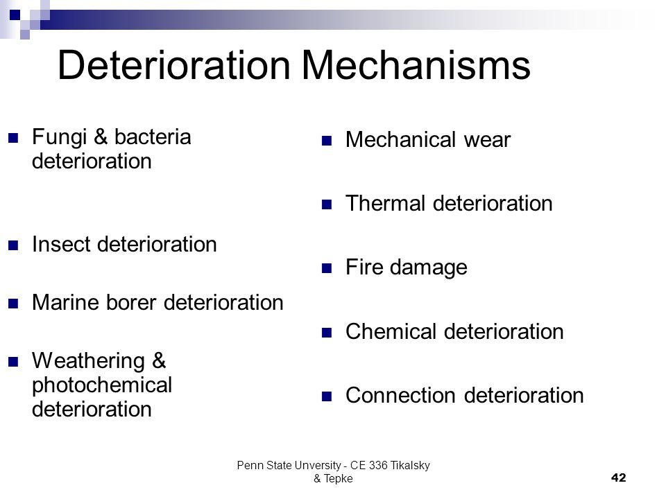 Deterioration Mechanisms