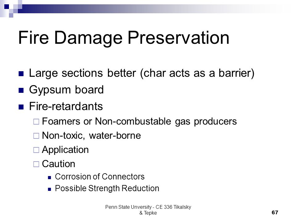 Fire Damage Preservation