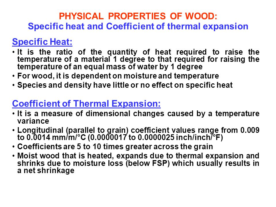 Coefficient of Thermal Expansion: