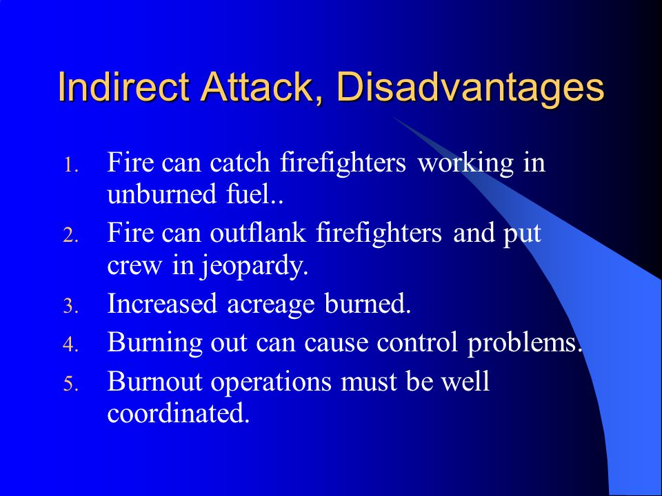 Indirect Attack, Disadvantages