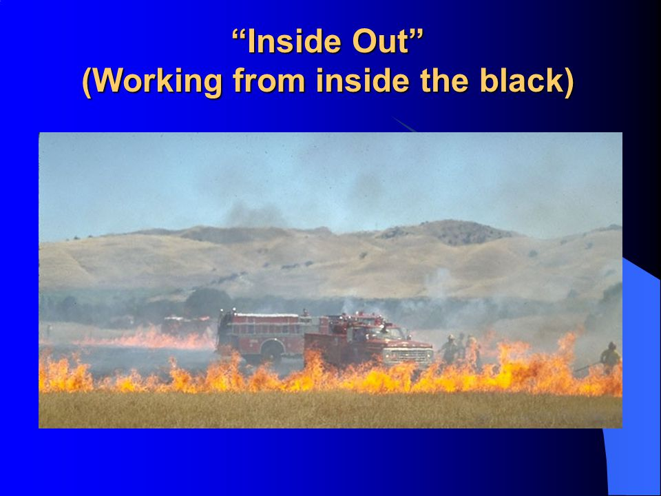 (Working from inside the black)