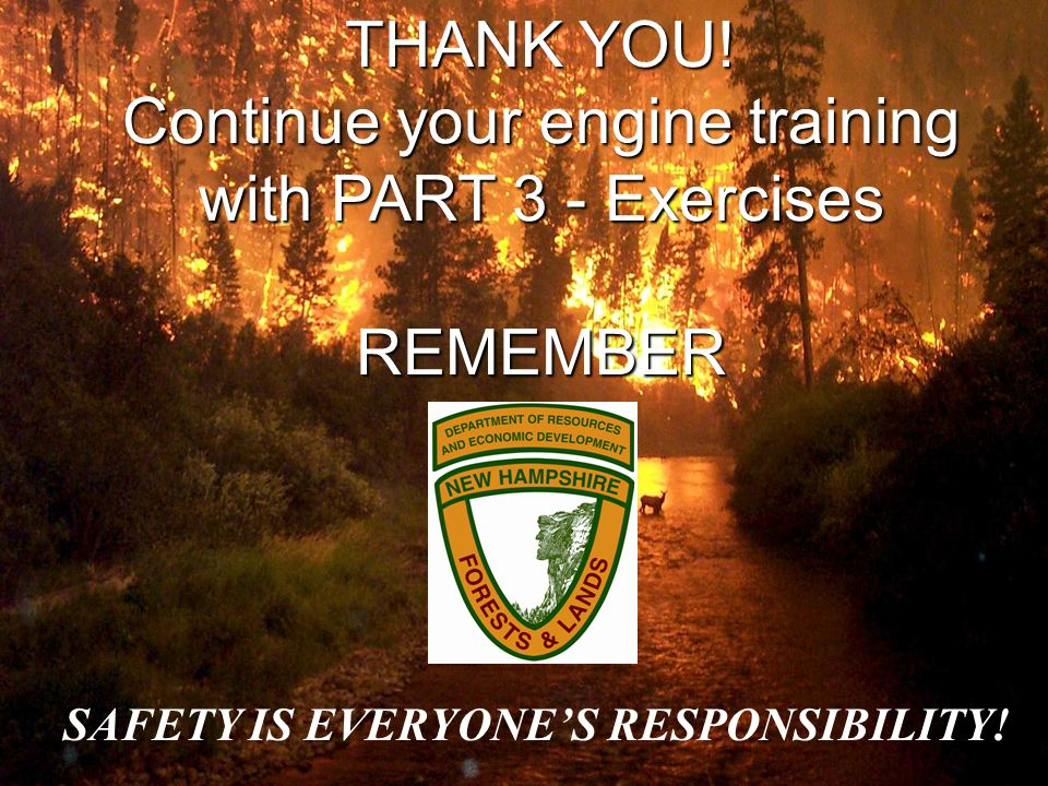 THANK YOU! Continue your engine training with PART 3 - Exercises REMEMBER