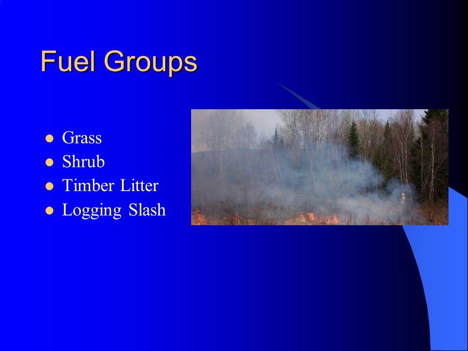 Fuel Groups Grass Shrub Timber Litter Logging Slash