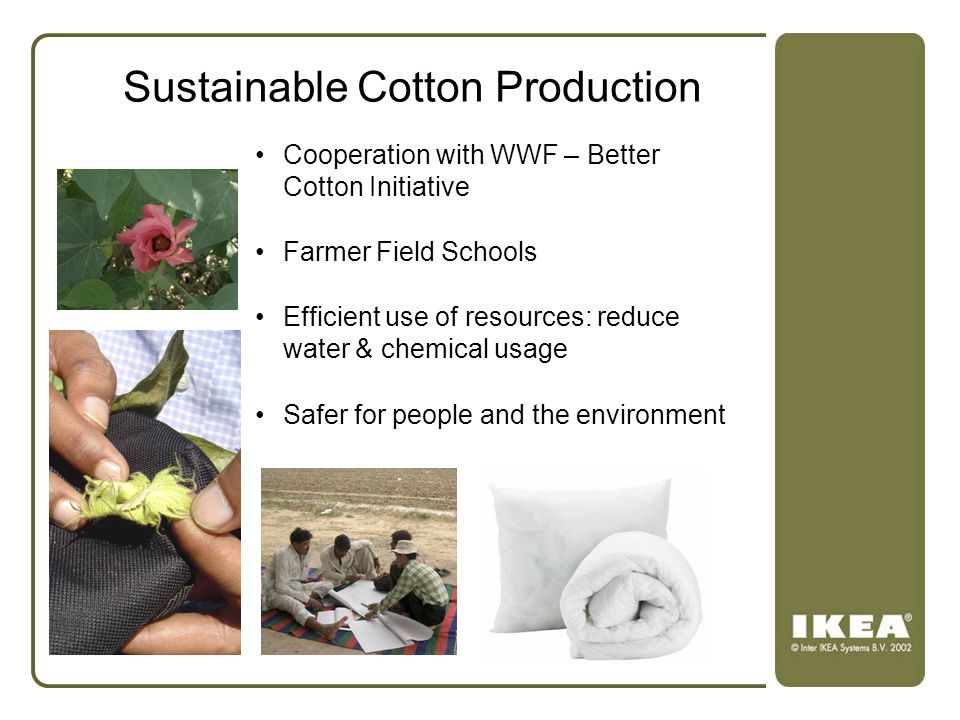 Sustainable Cotton Production