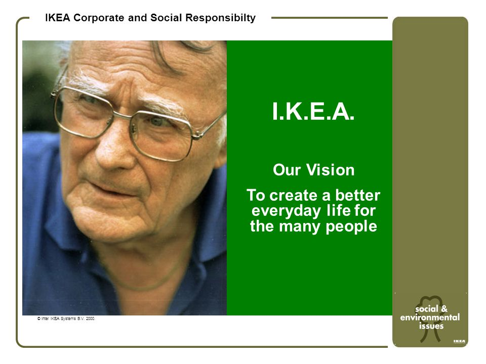 IKEA Corporate and Social Responsibilty