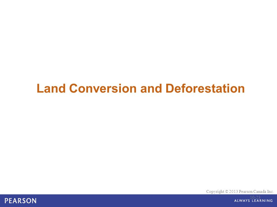Land Conversion and Deforestation