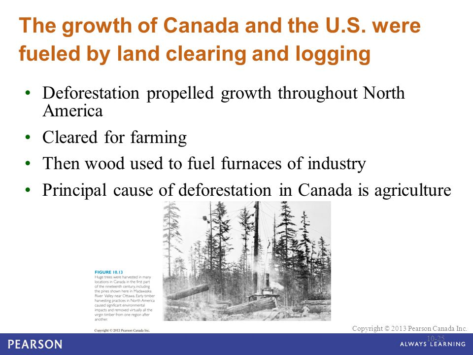The growth of Canada and the U. S