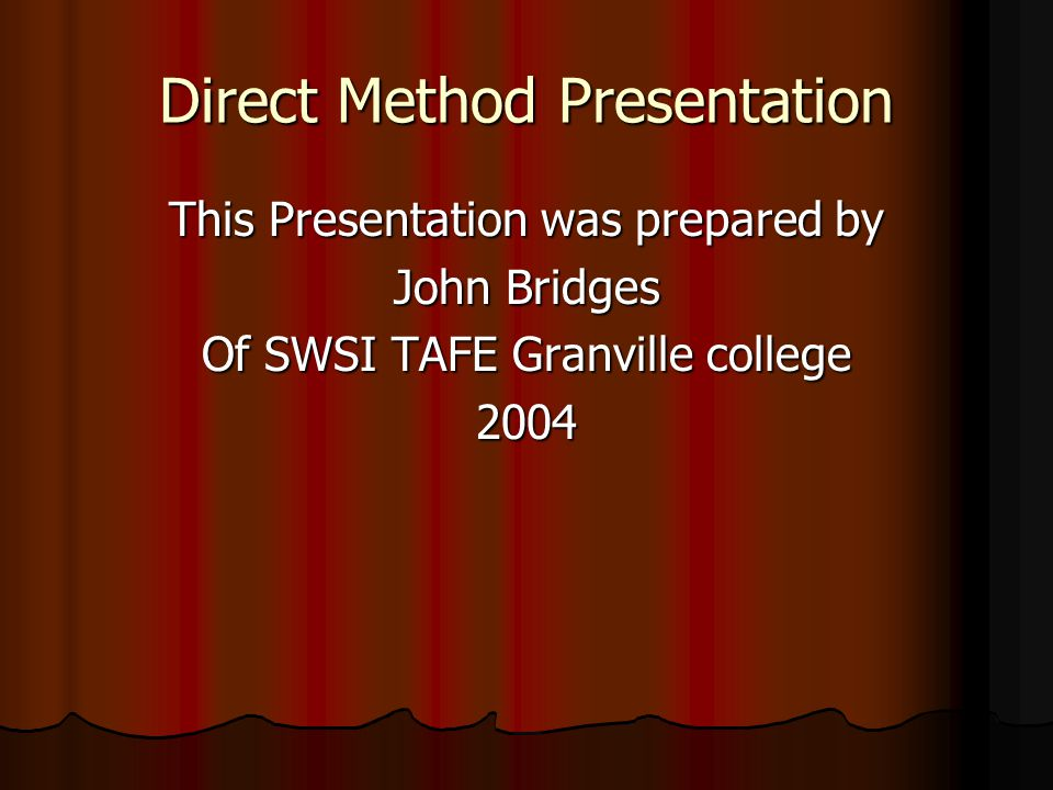 Direct Method Presentation