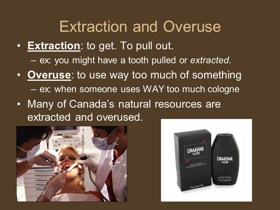 Extraction and Overuse