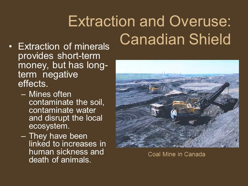 Extraction and Overuse: Canadian Shield
