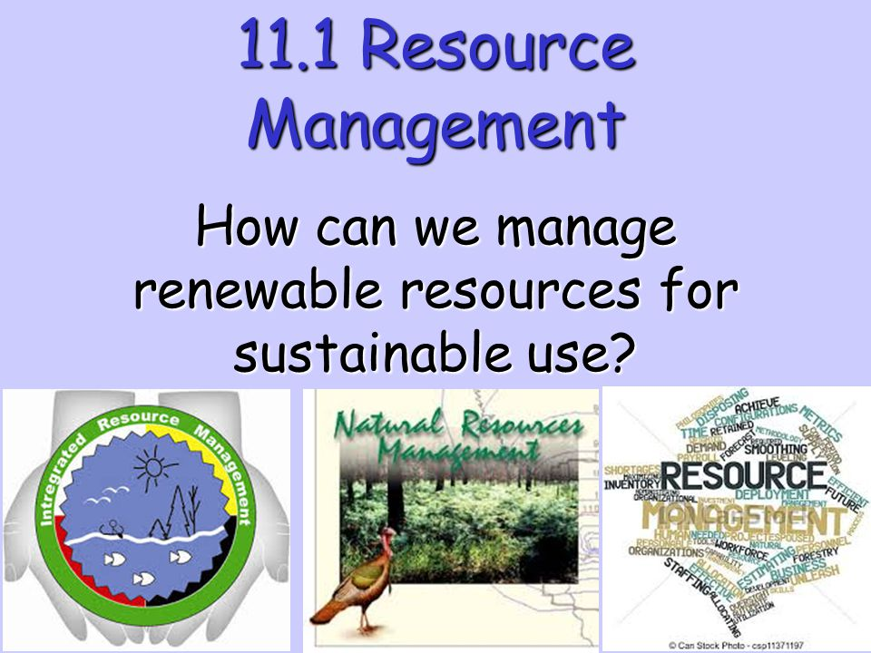 How can we manage renewable resources for sustainable use