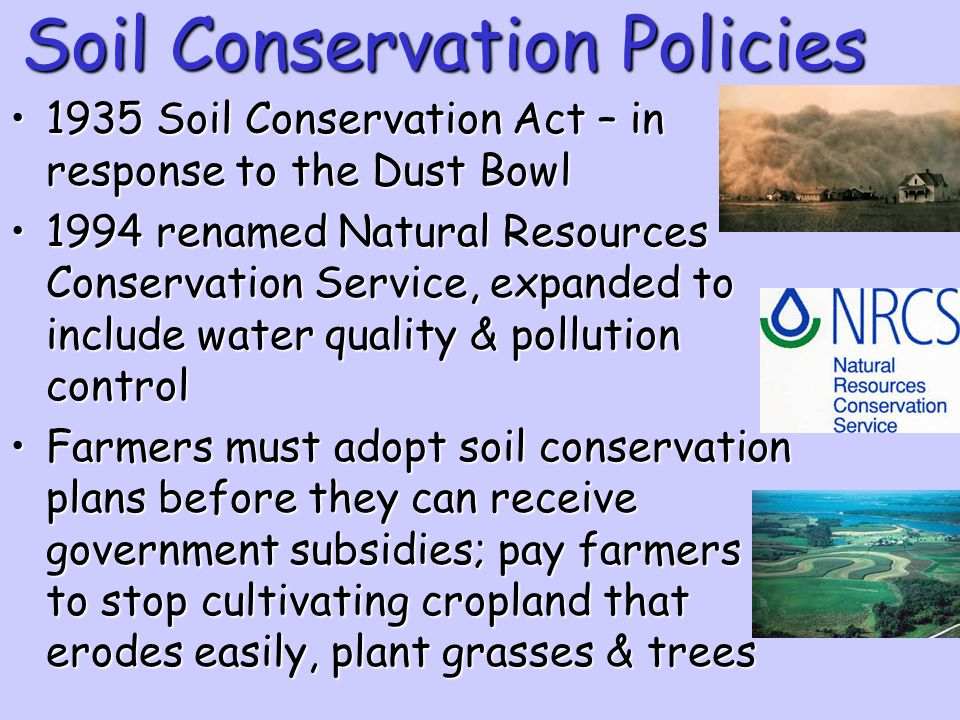 Soil Conservation Policies
