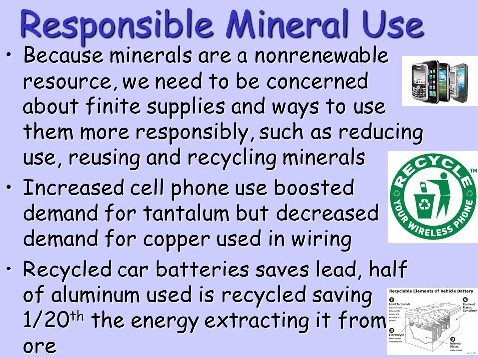 Responsible Mineral Use